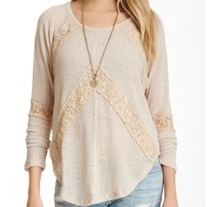 Free People Flying V Hacci Sweater Size XS